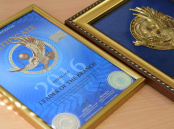 A ceremony of awarding economic leaders of Union of National Business-Ratings member countries